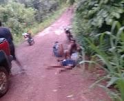 Acidente na zona rural de Santo Antônio dos Lopes deixa motociclista ferido