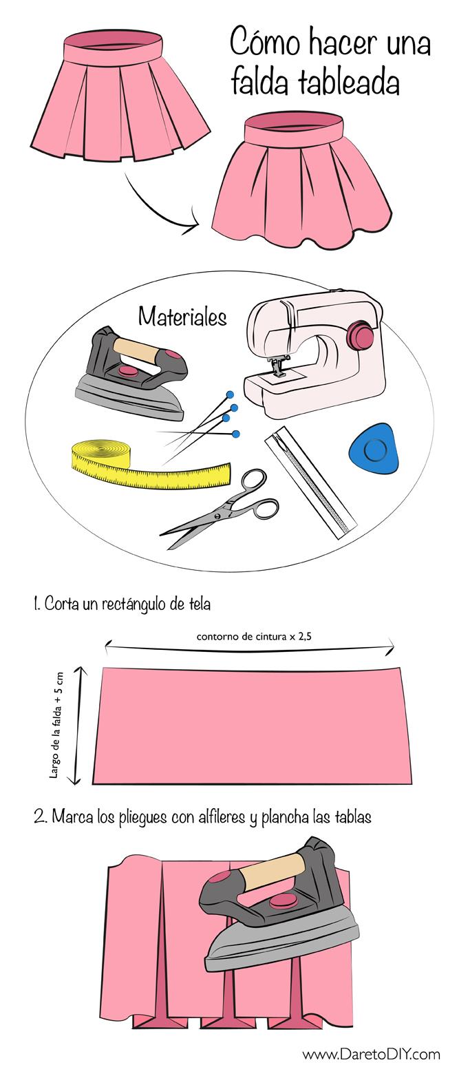 435d21f5a Tutorial: Como hacer una pollera tableada.