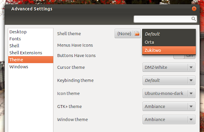 Install GNOME Shell themes Extensions in Ubuntu via PPA