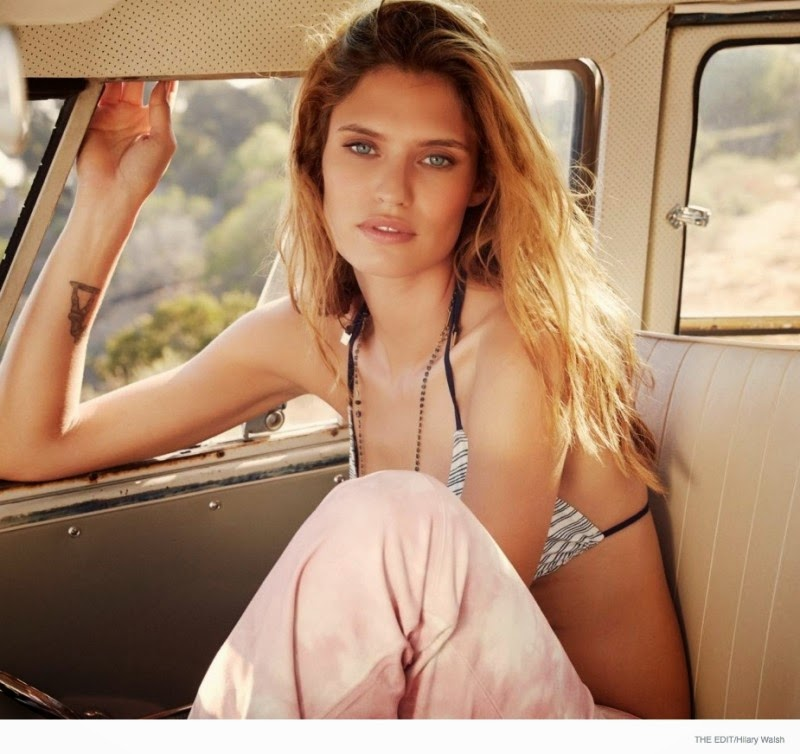 Bianca Balti wears swimwear styles for the new The Edit photoshoot