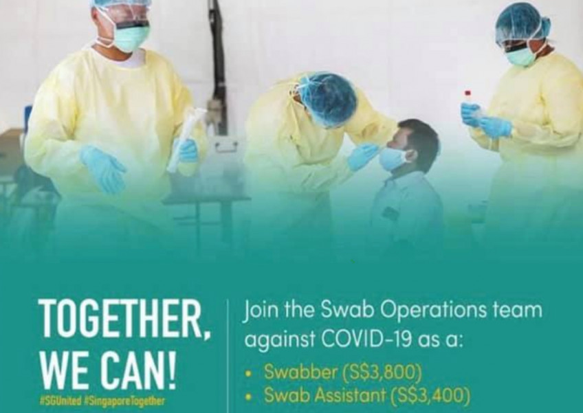 Are swabbers overpaid compared to nurses? MOH responds after viral post stirs debate, posted on Thursday, 21 May 2020
