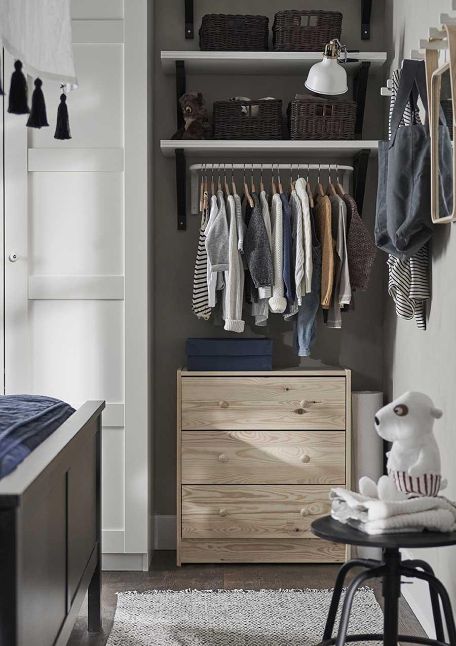 catálogo ikea 2020 dormitorio armario cómoda de madera estilo nórdico