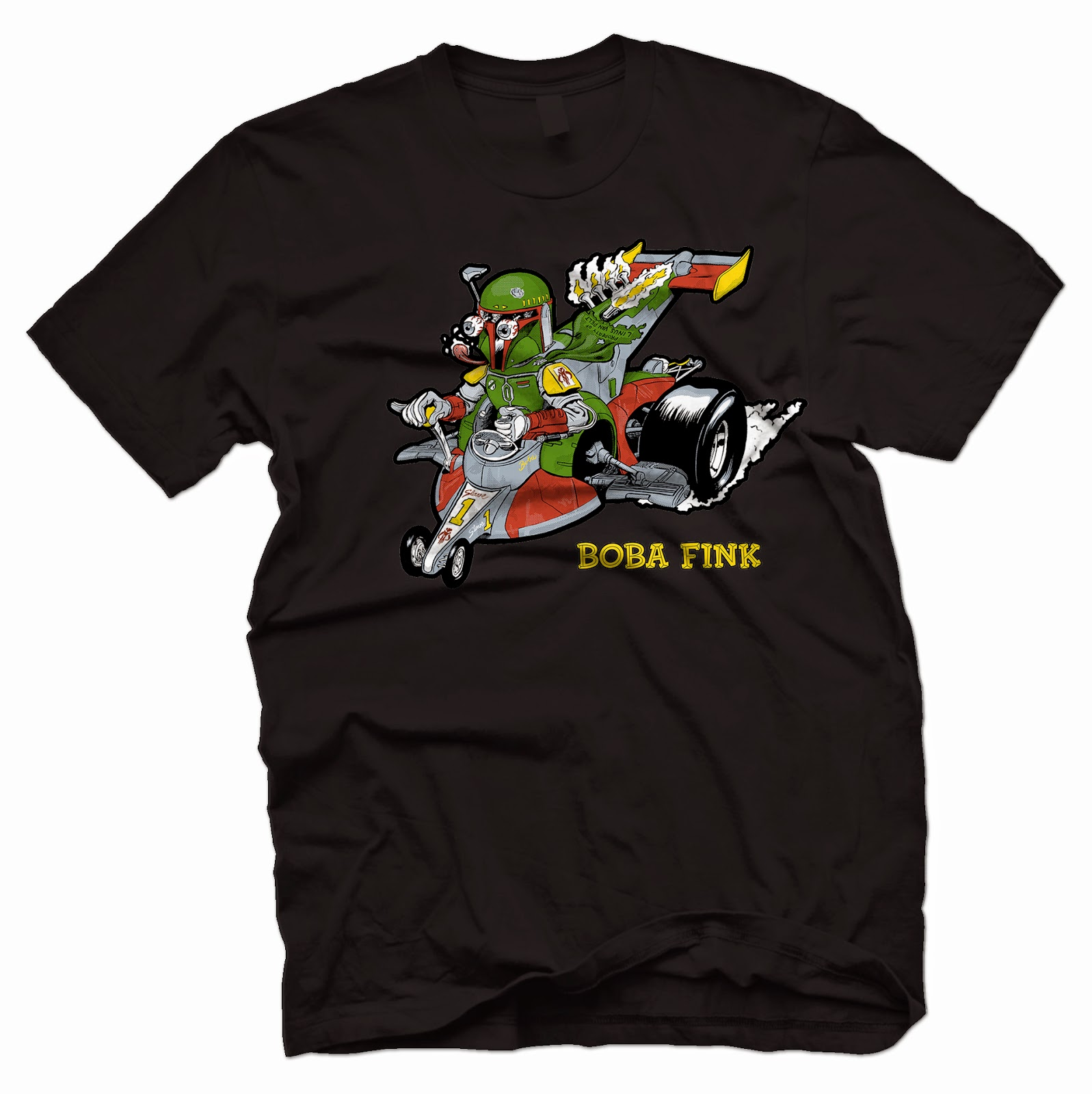 Boba Fink Star Wars T-Shirt by Manly Art & Outsmart Originals