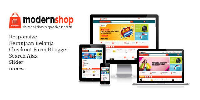 Chia sẻ free ModernShop template bán hàng đẹp cho blogspot