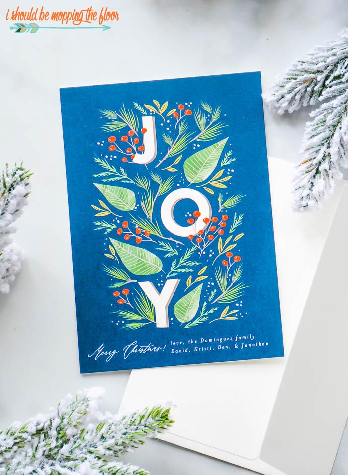 JOY Christmas Card Design