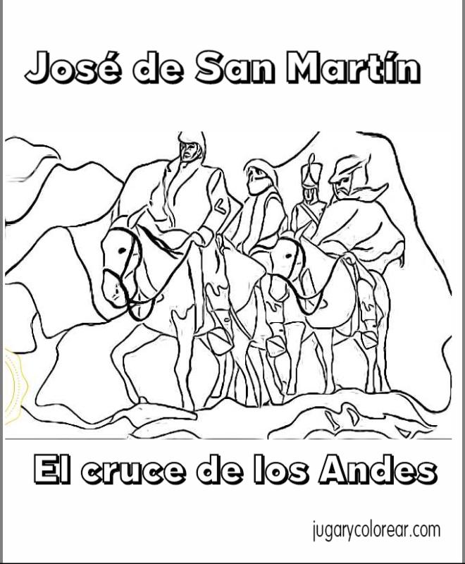 General Jose De San Marttín Cruce De Los Andes Para Niños