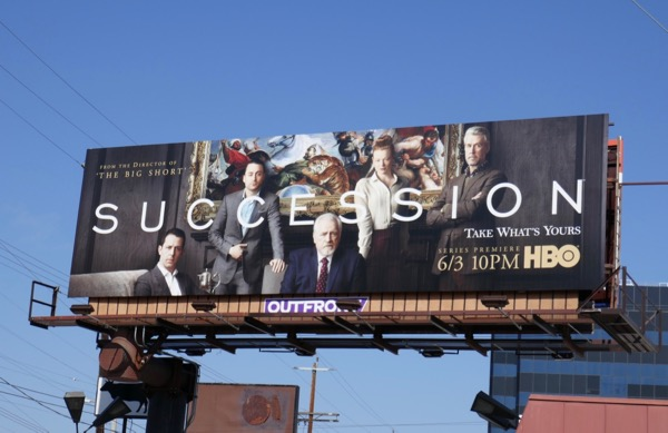 Succession series launch billboard