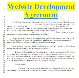 Contract Website Design Agreement Examples In Doc Form Sample Contracts