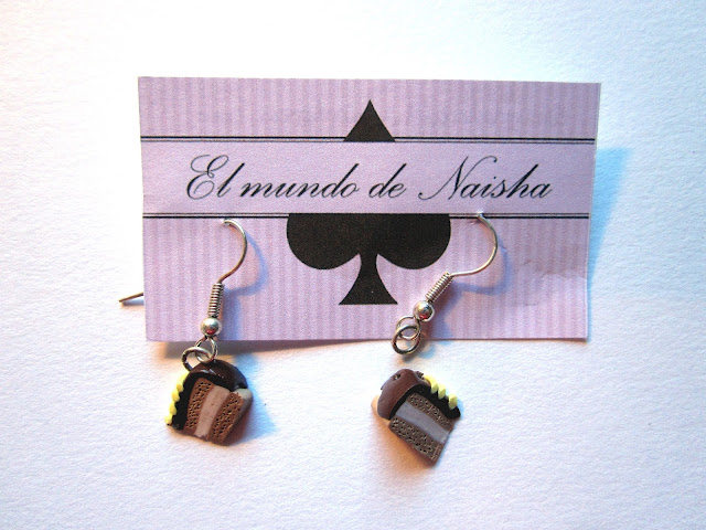 polymer clay cake earrings