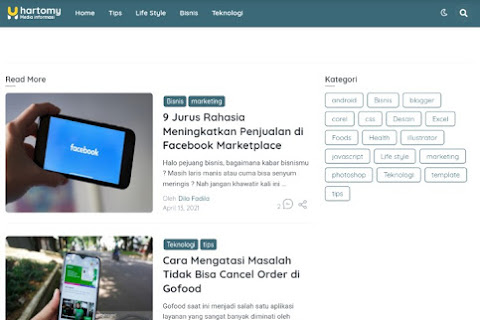 [Free] New Hartomy Blogger Template SnapNews v5 Download