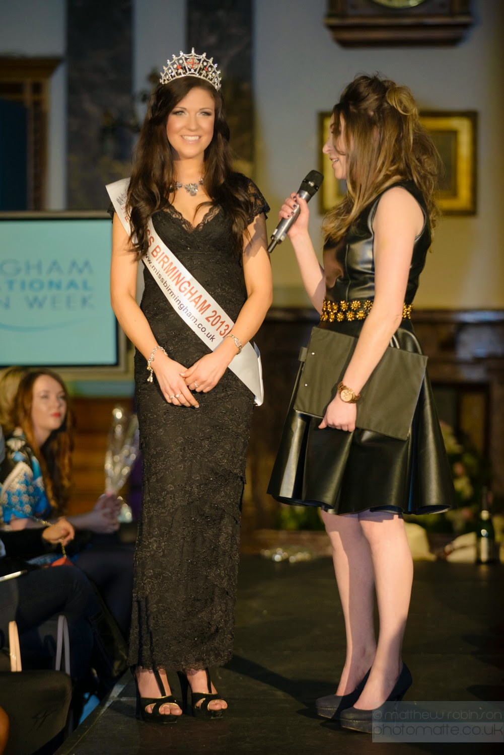 Presenter Frankie McCamley with Miss Birmingham Rachael Barker