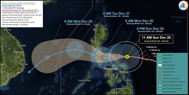 Suuntana Aasia | Taifuuni Nock-Ten (Nina) häiritsee parhaillaan Joulun viettoa Filippiineillä