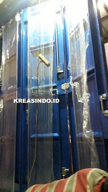 Pintu Ruko Besi Powder Coating pesanan Bu Miniwati di Cilegon Banten
