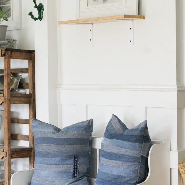 How to recycle your old denim jeans into stylish throw pillows