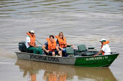 Rhoque Malízia e Renata Sartório em passeio pelo Pantanal - Divulgação