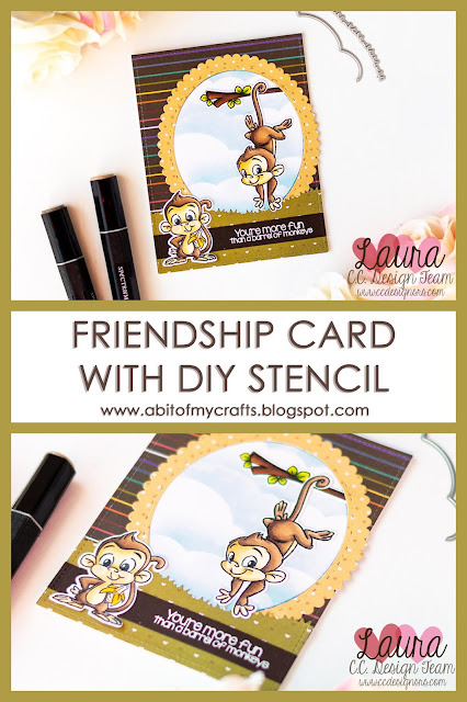 Friendship Card with C.C. Designs Monkeys Pinterest