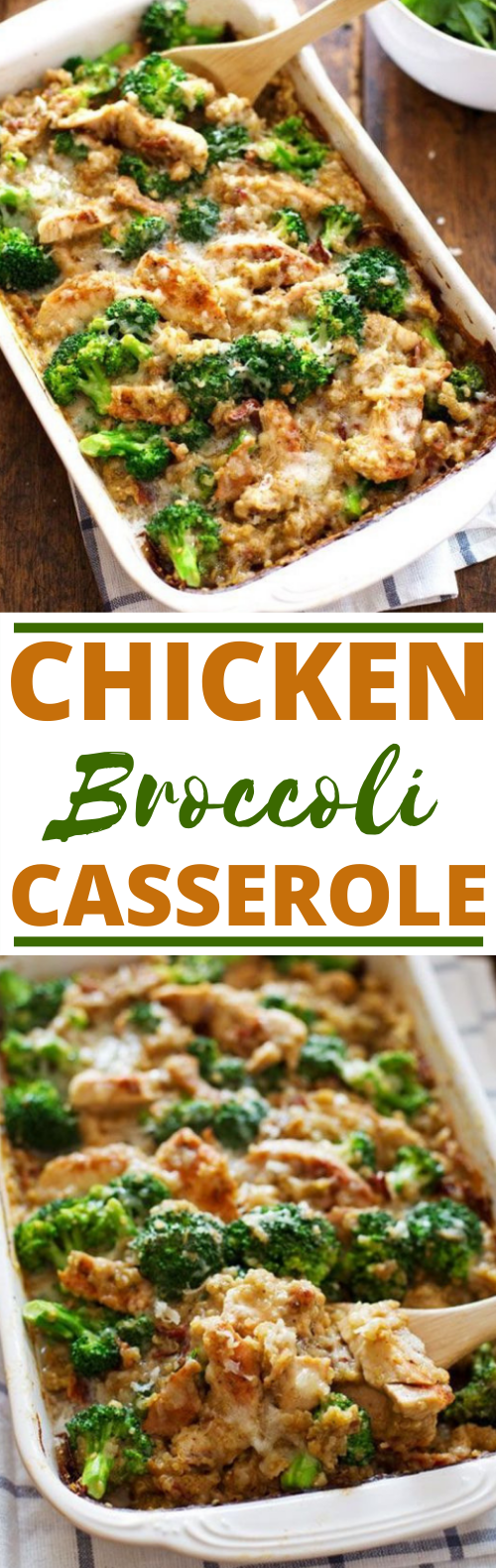 Creamy Chicken Quinoa and Broccoli Casserole #dinner #casserole #chicken #healthy #recipes