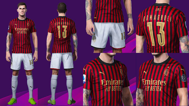 PES 2020 AC Milan 120 Years Anniversary Special Kits by barricade