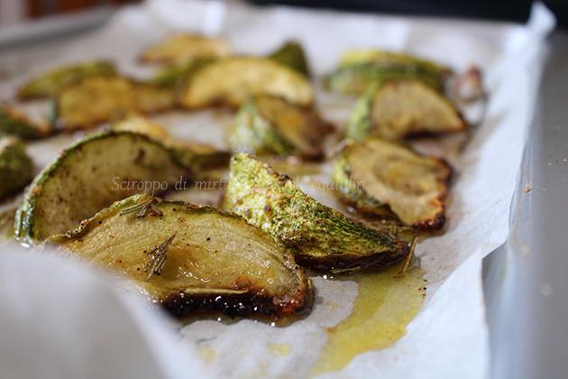 Zucchine tonde arrosto