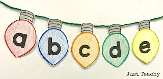 Christmas Light Bulb Letters