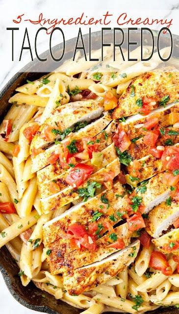 5-Ingredient Creamy Southwest Chicken Alfredo