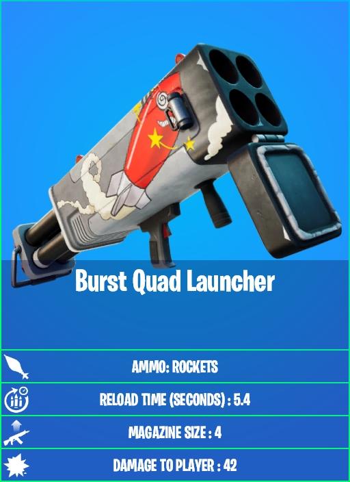 Burst Quad Launcher in Fortnite