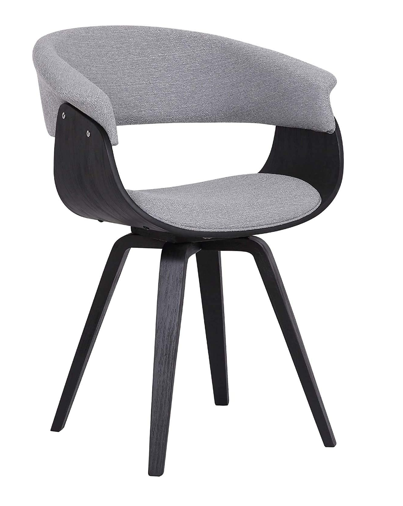 Best ideas Grey Minimalist livingroom contemporary Chair with charcoal fabric and Walnut wood finish 1