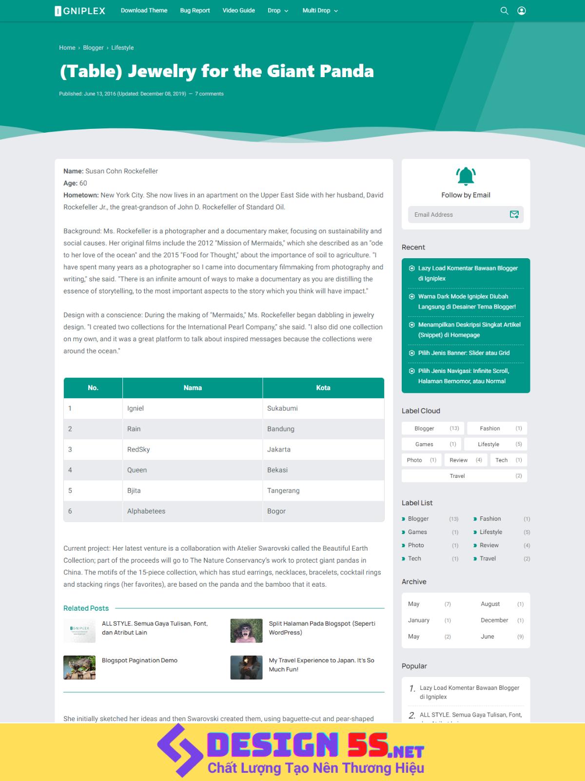 Igniplex Template Blogspot Chuẩn SEO, Tải Nhanh Miễn Phí - Ảnh 2