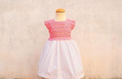 1 - Crochet Imagen Falda para canesú rosa a crochet y ganchillo por Majovel Crochet