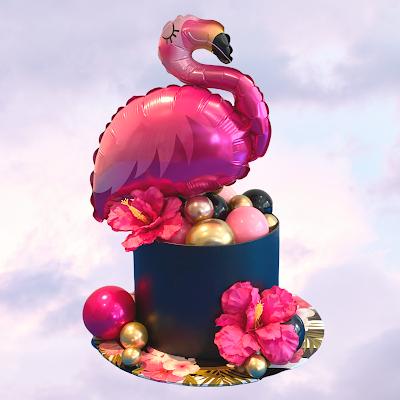 Flamingo Balloon Design by Sue Bowler