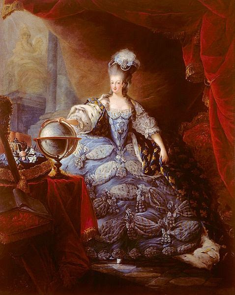 Marie Antoinette by Jean-Baptiste André Gautier d'Agoty, 1775