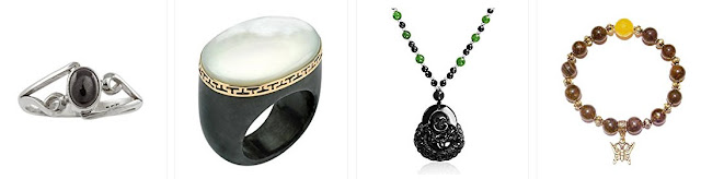 black jade jewelry bangle ring pendant