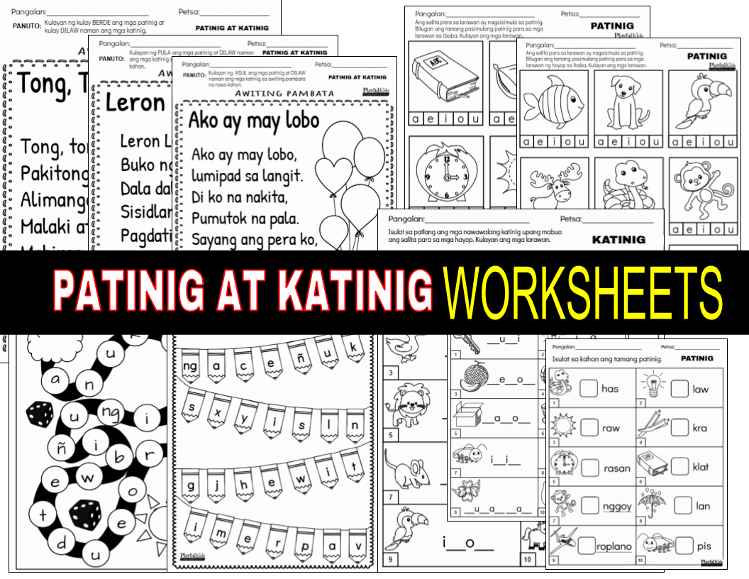 Worksheet In Filipino Patinig