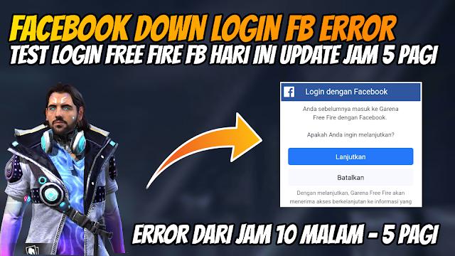 Free Fire Login FB Mulai Normal