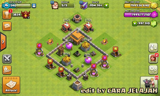 Desain Base Hybrid Clash Of Clans Town Hall 3 Update Terbaru 1