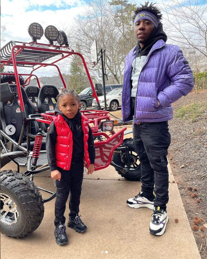 YFN Lucci Spends Christmas with Son; Reginae Carter Seen Celebrating Seperately