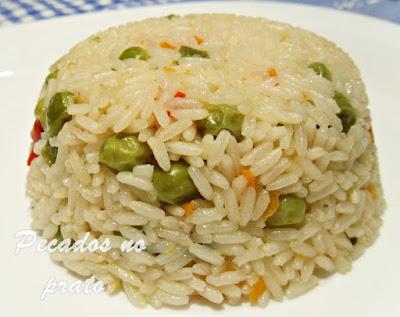 Receita de arroz de ervilhas