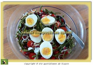 Vie quotidienne de FLaure: Salade composée au surimi
