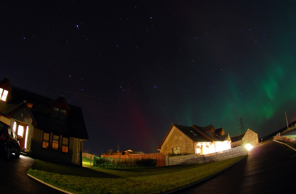 Aurora Borealis - Northern Lights - from Aberdeenshire Scotland