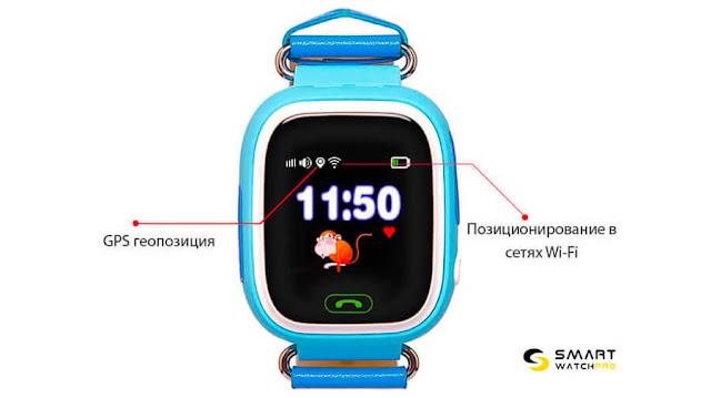 Как настроить умные часы для детей Q 90