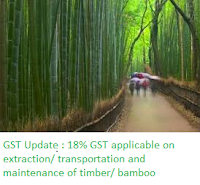18% GST applicable on extraction & transportation and maintenance of timber bamboo