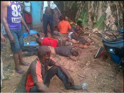 Sad News! Five dead in Imo as Hilux collides with tricycle  (PHOTOS)