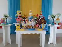 Decoração de festa infantil Bob Esponja Porto Alegre