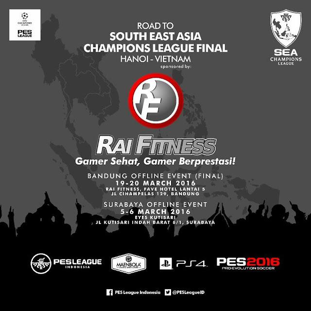 Kompetisi PES 2016 di Bandung dan Surabaya Maret 2016
