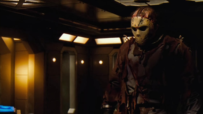 Screen Shot Of Hollywood Movie Jason X (2001) In Hindi English Full Movie Free Download And Watch Online at worldfree4u.com