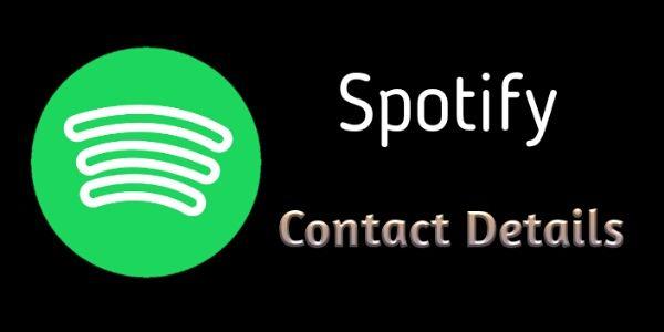 Spotify Contact, Spotify Customer Service