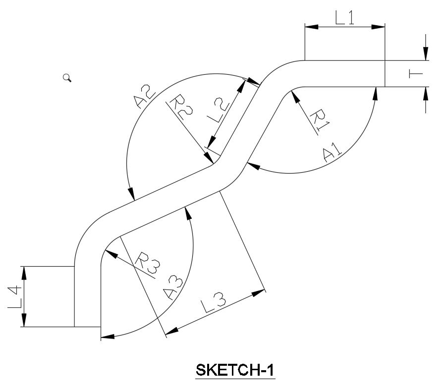 how to calculate developed length of sheet metal
