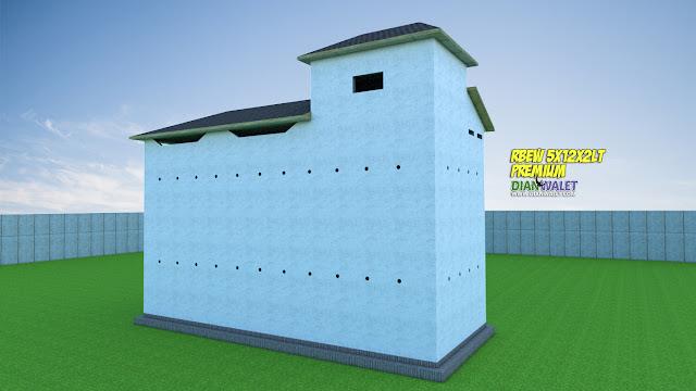 Desain Rumah Burung Walet 5X12 2 Rumah Monyet