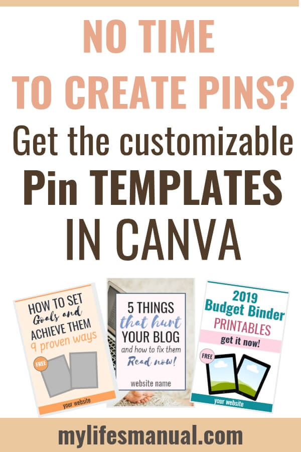Customizable Pin Templates in Canva For Busy Bloggers
