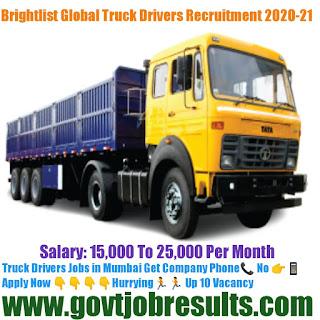 Brightlist Global Truck Driver recruitment 2020-21